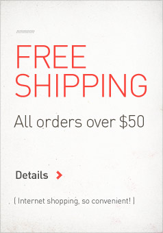 Free Shipping on all orders over $50.