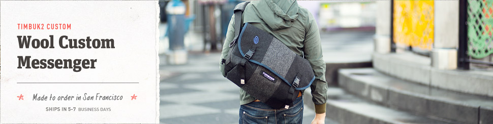 Wool Custom Messenger. Made to Order in San Francisco.