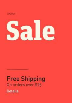 Sale. Plus Free Shipping on all orders over $75.