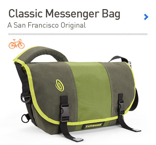 Classic Messenger Bag. A San Francisco Original.