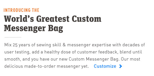 The New Timbuk2 Custom Messenger Bag. 25 Years in the making.
