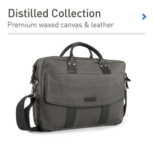 Timbuk2 Distilled Collection. Premium Waxed Canvas & Leather.