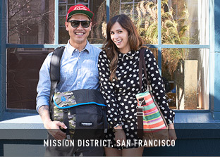 Made and Worn in San Francisco. Customize  Your Bag.
