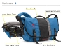 D-Lux Laptop Racing Stripe Messenger Bag Diagram